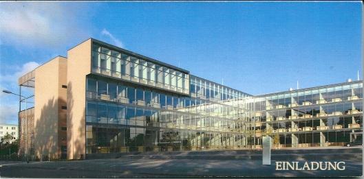 Openingskaart bibliotheeknieuwbouw Rostock, 3 december 2004