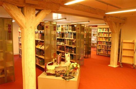 Interieurfoto van stadsbibliotheek Stralsund