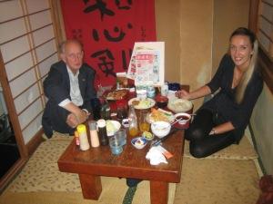 In een Japans restaurant, ofschoon mijn smaakpapillen de Franse en Holladse keuken preferen