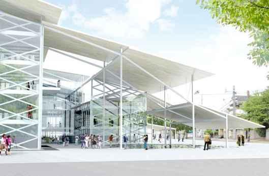 Winnend ontwerp van Lida Archiship Sudio voor een nieuw te bouwen Kyoto Prefectural Libary and Archives