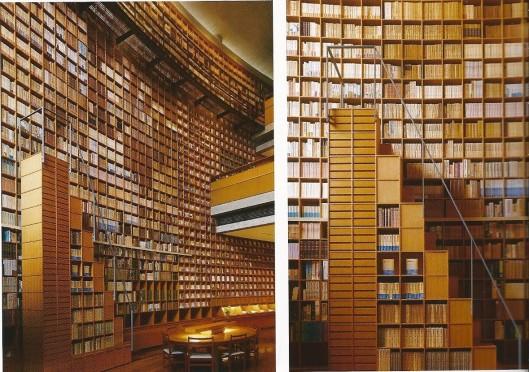 Museum-bibliotheek in 2001 ontworpen door Tadao Ando biedt ruimte aan meer dan 220.000 boeken die schrijver Shiba Ryotaro tijdens zijn leven verzamelde.