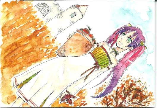 Manga-postcard: Autumn by Kou 'hayakumu' Aikawa,
