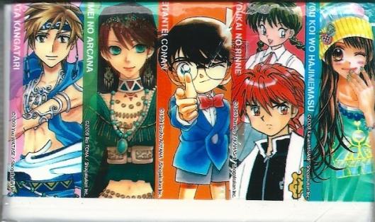 manga-iIlustratie bij papieren zakdoekjes. Shogakukan.  www.comics.shogakukan.co.jp