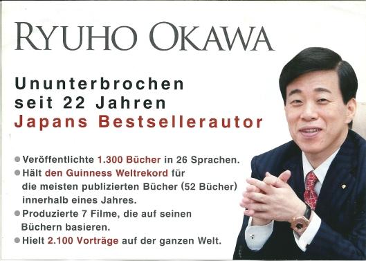 De Japanse auteur Ryuho Oawa (geboren 7 juli 1958) is met meer dam 500 gepubliceerde boeken (wereld)recordschrijver