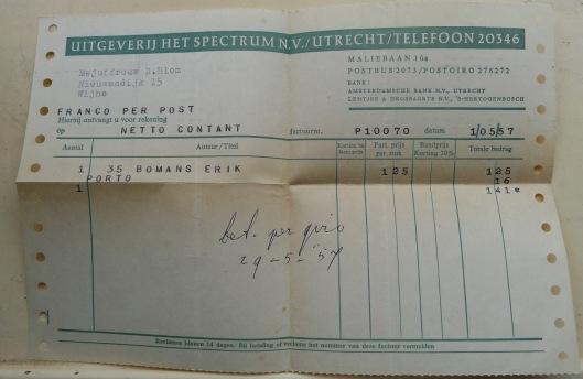 Als Prisma-pocket kostte het boek Erik of het klein insectenboek in de jaren 50 van de vorige eeuw slechts ƒ 1,25. (Leeuwarder Courant, 2-11-2013)