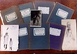 De bij Bubb Kuyper in Haarlem geveilde Erik-schriftjes, aangekocht door een houthandelaar in Vlaanderen