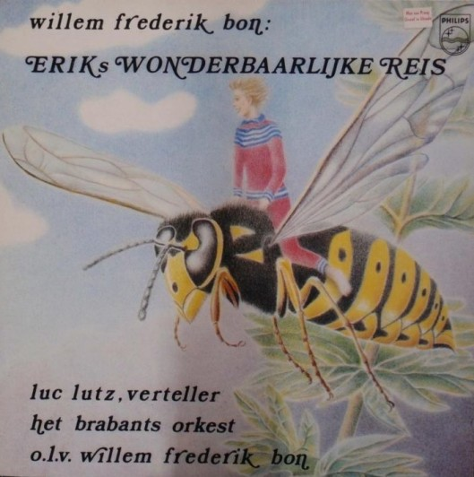 Erik's wonderbaarlijke reis als illustratie voor platenhoek door Saskia Bon (Gerrit J. Bosch).