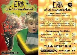 Erik naar Bomans door Marleen Maes geregisseerd voor Jeugdtheater Ondersteboven in Vlaanderen