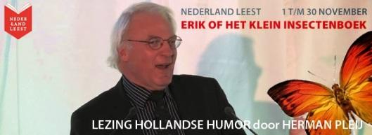 De erudiete en altijd enthousiaste professor Herman Pleij houdt lezingen over Godfried Bomans onder de titel 'Hollandse Humor'