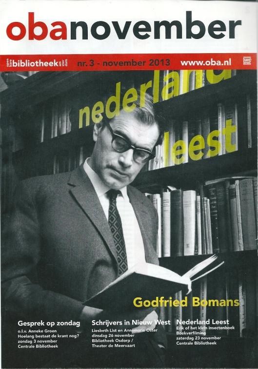 Voorzijde van maanduitgave Openbare Bibliotheek Amsterdam OBA november 2013