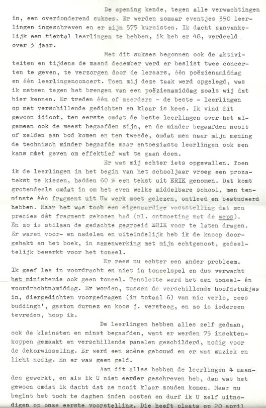 Vervolg brief van Ray de Blauwer aan Godfried Bomans (2)