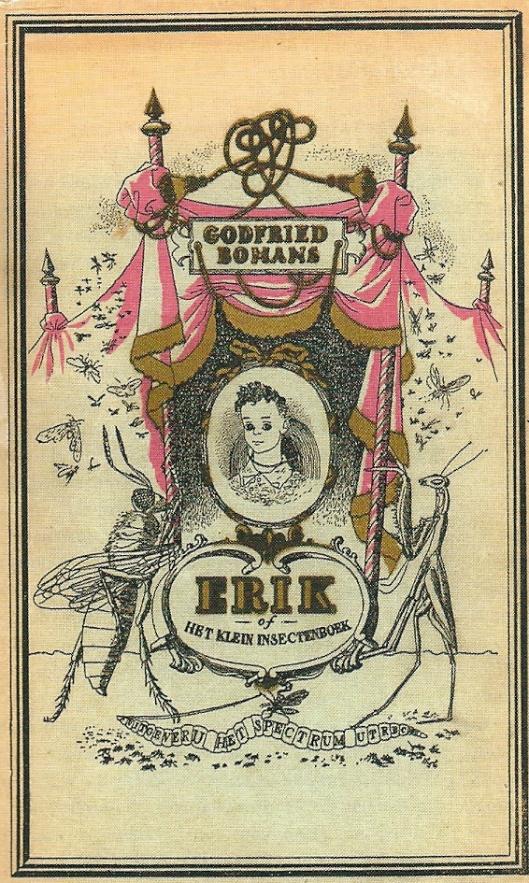 Stofomslag van Bomans' boek Erik, geïllustreerd door Karel Thole