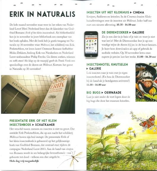 Folder omtrent Erik van Naturalis Leiden