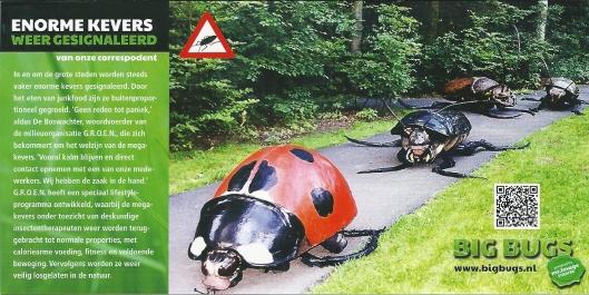 Flyer van Big Bugs, enorme kevers, die op 30 november zijn te zien in Naturalis-Leiden