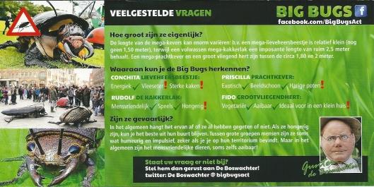 Andere zijde van flyer met informatie over Big Bugs