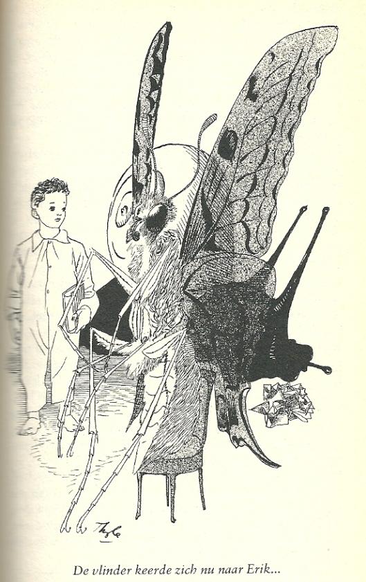 Illustratie uit Bomans' boek  Erik door Karel Thole
