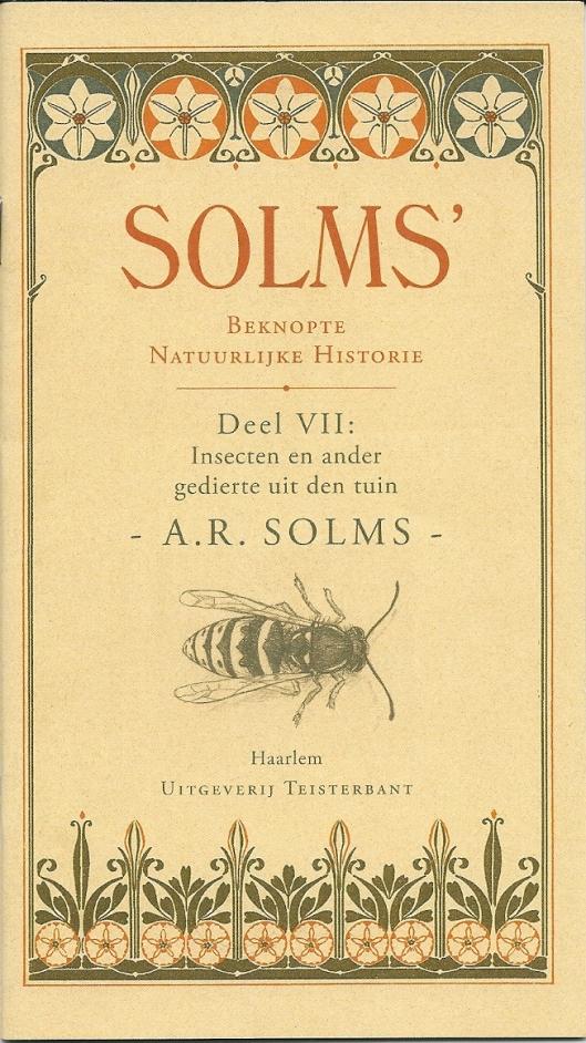 Vooromslag van Solms' Beknopte Natuurlijke Historie, Aks bijlage opgenomen bij de luxe 59ste druk van de CPNB, in de boekhandel te koop.