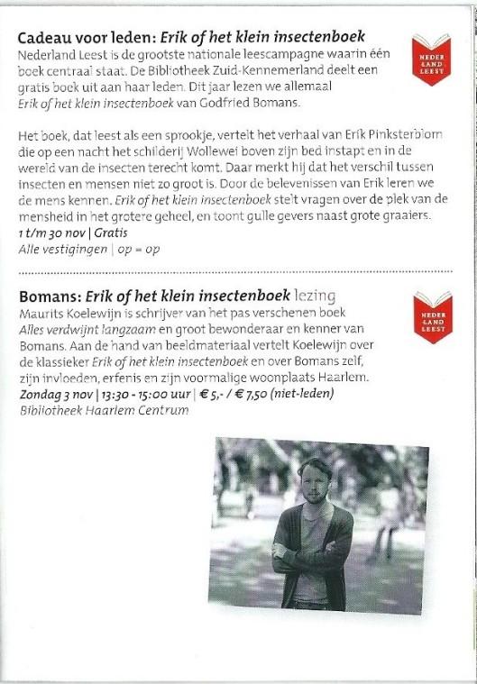 Uit brochure: de Bibliotheek Zuid-Kennemerland. Najaar 2013.