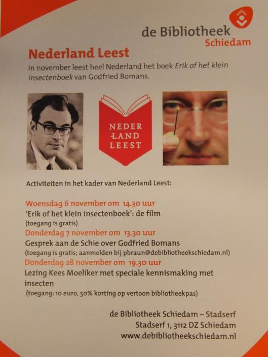 Activiteiten bij gelegenheid van de actie 'Nederland Leest' georganiseerd door de openbare bibliotheek Schiedam