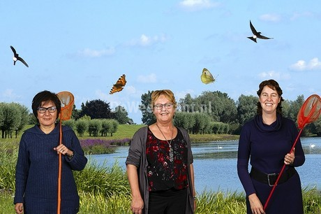 In Leusden en Woudenberg hebben zich talrijke mensen laten fotograferen in een setting van het schilderij 'De Wollewei (foto Bibliotheek Eemland)