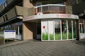 Entree van Wollewei, een kinderdienstencentrum in Haarlem