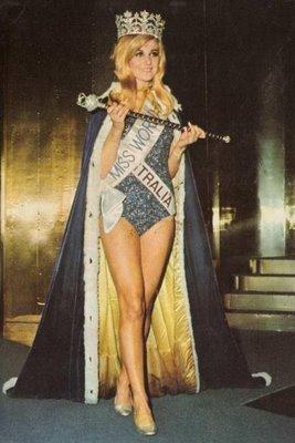 In 1968 is de Australische bibliothecaresse Penelope Plummer uit Kempsey, New South Wales, in Londen verkozen tot Miss World 1968