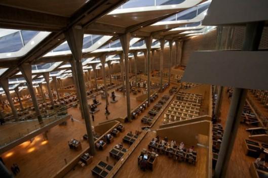 Interieurfoto van de Bibliotheca Alexandrina