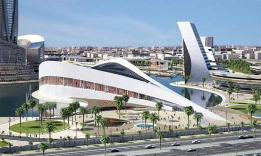 De nieuw te bouwen Nationale Bibliotheek van Irak in Bagdad