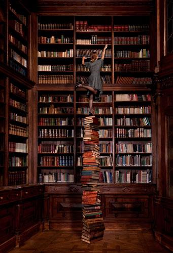Bij gebrek aan een bibliotheektrap (Nico Ferrando)