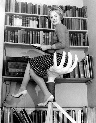 Moderne boekenzittrap