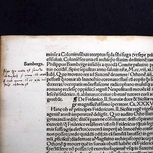 Aantekeningen van Maarten Luther met in de marge de levensdata van de Heilige Elisabeth, in verzamelband van de Herzog August Bibliotheek in Wolfenbüttel