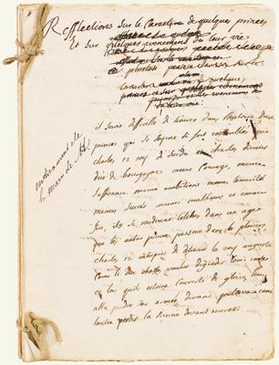 Geveilde manuscript van Montequieu