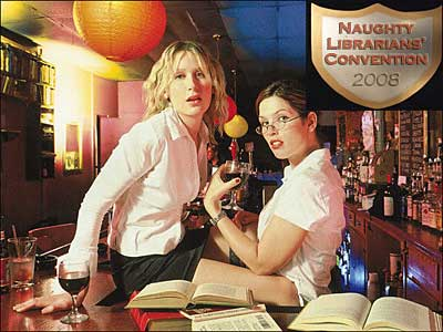 Eerste 'Naughty Librarians Convention' in San Francisco, 2008