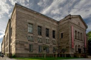 Gebouw van de Nationale Bibliotheek van Noorwegen in Oslo