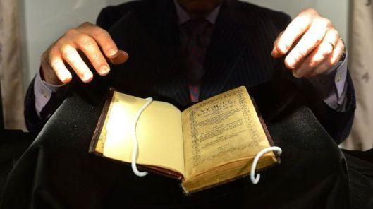 Na Gutenberg en Audubon nu het duurste boek: een Amerikaans Psalmenboek uit