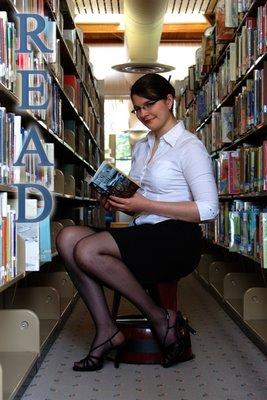 Amerikaanse promotiekaart voor het lezen van boeken: READ (Patrick Rothfuss)