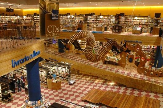 In 2013 was Brazilië met 90 miljoen boekenlezers eregast op de Buchmesse in Frankfurt. Op deze foto een filiaal van 'Livraria Cultura' in de grootste stad van het land Sao Paulo.