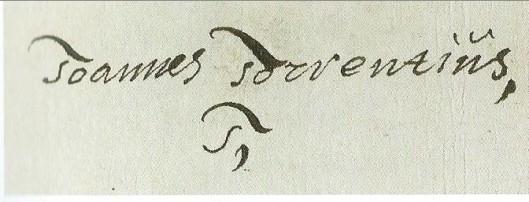 Handtekening van Johannes Torrentius (1627)