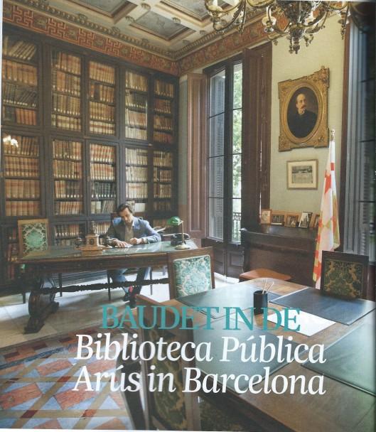 Thierry Baudet in de Biblioteca Pública Arús in Barcelona, volgens hem gewijd aan 'gezagondermijnende bewegingen'. In: Juist, nummer 12, 2014