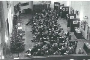 Impressie van het symposium over historisch Holland in de Janskerk van het Noord-Hollands Archief, 13 december 2013