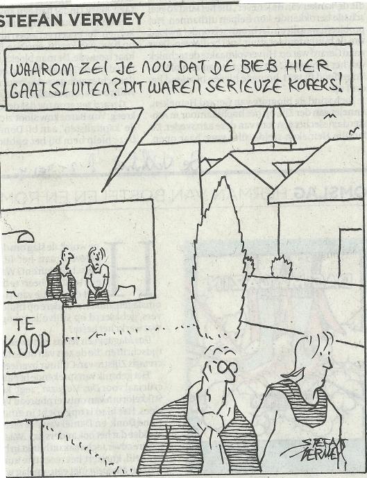 Cartoon van Stefan Verwey uit De Volkskrant van 8-2-2014