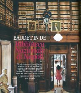 Thierry Baudet in de Nationale Bibliotheek van Napels