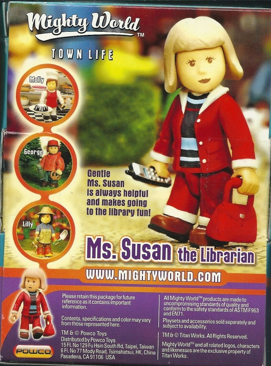 Gentle mrs. Susan is Always helpful and makes going to the library fun.
