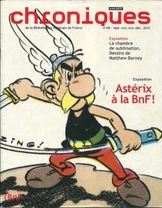 Voorzijde met Asterix in Chroniques de la Bibliothèque Nationale de France, nr.68, 2013