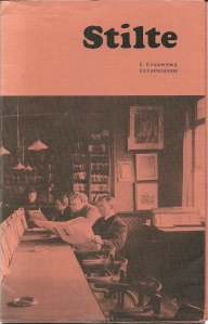 Vooromslag van de brochure 'Stilte'' met memoires van bibliothecaresse E.Knippenberg over haar werk in Helmond