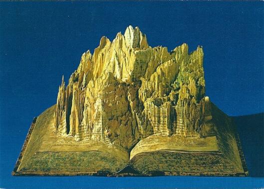 Boek als landschappelijk kunstwerk door Martin Schwarz