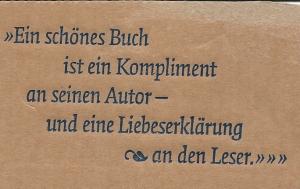 Motto van uitgeverij Hermann Schmidt in Mainz