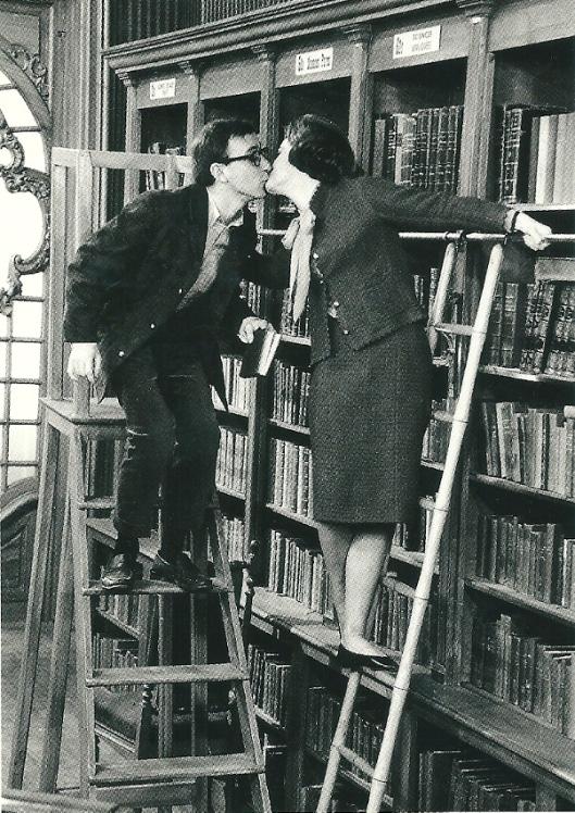 Romy Schneider en Woody Allen in de film 'What's new Pussycat' Parijs, 1964