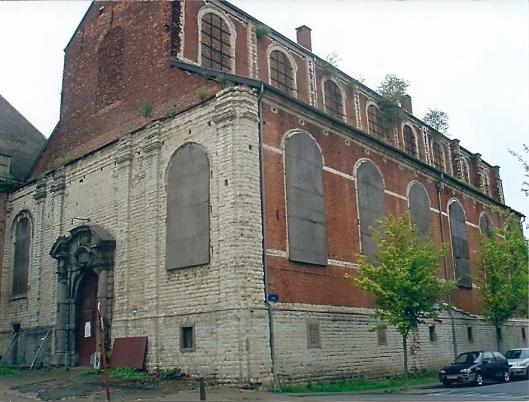De tot stadsbibliotheek te verbouwen kloostergebouwen in Mechelen