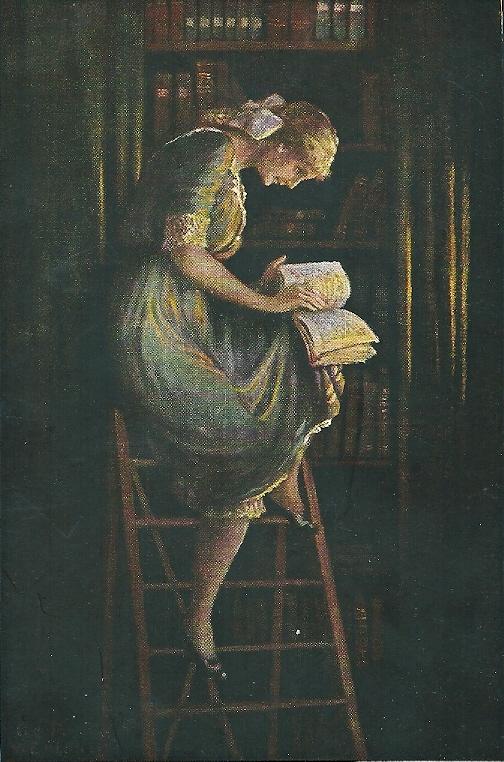 Der Bücherwurm (Noris Kunstverlag Nürnberg)